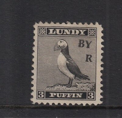 #03 Great Britain Lundy Island Puffin 1950 BY AIR Narrow O/pr 'A' missing 3p