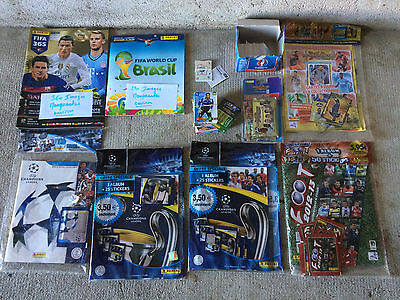 Lot PANINI Football - Albums + Cartes Adrenalyn + Vignettes - Neuf + Occasion