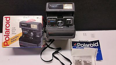 Vintage Polaroid, One Step, Close-Up, 600 Camera with Auto-Flash, Strap, Tested
