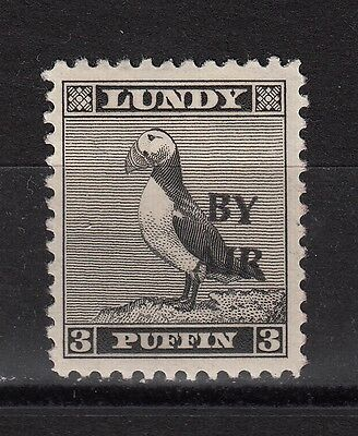 #12 Great Britain Lundy Island Puffin Stamp 1950 BY AIR Narrow O/pr Cat #72 3p