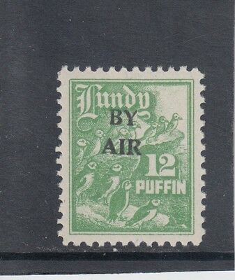 #13 Great Britain Lundy Island Puffin Stamp 1950 BY AIR Narrow O/prCat #76 12p