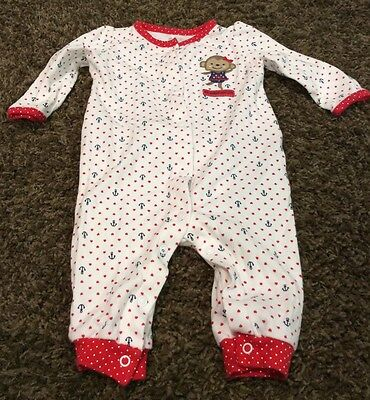 CARTERS baby girls patriotic nautical theme one piece size 6 m