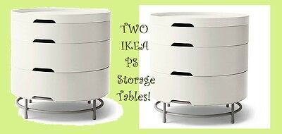 TWO-2- IKEA PS 2014 Storage Tables NEW Bedside(LAST AVAIL)Multi-Layer MOD Cubby
