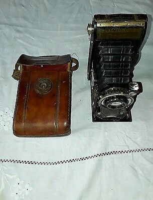 Voigtlander Bessa Folding Camera With  Great Leather Case
