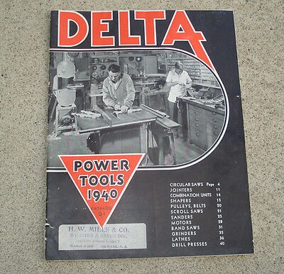 Vintage DELTA Power Tools Catalog 1940 Industrial Equipment Factory Sales