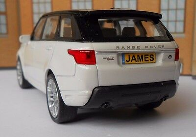 PERSONALISED PLATES RANGE ROVER SPORT Toy Car MODEL boy dad BIRTHDAY gift NEW!!!