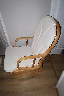 Nursing Gliding Rocking Glider Chair Cream Light Wood
