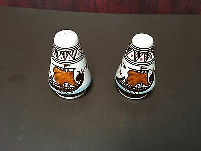 Ceramic Handmade And Hand-Painted Greek Salt And Pepper Shakers