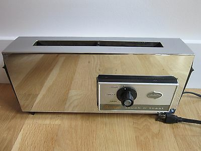 Rare VTG Sunbeam Thinline Chrome Touch N Toast Toaster Model AT-E Working