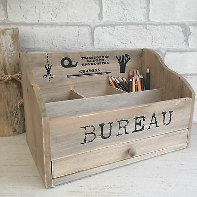 Wooden Post Letter Rack Desk Bureau Stationary Organiser Storage Vintage Style