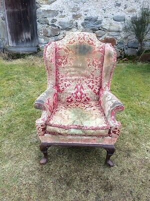 A Late Victorian Wing Back Armchair