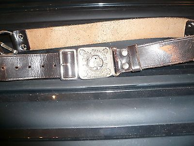 Vintage Girl Guides Leather Belt
