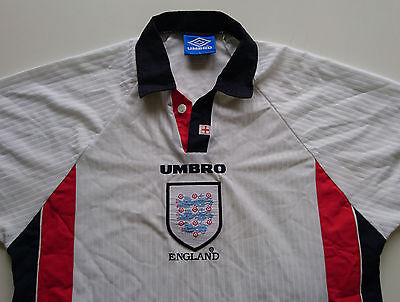 Vintage Umbro England Home Shirt Jersey - World Cup France 98 - Large - RARE