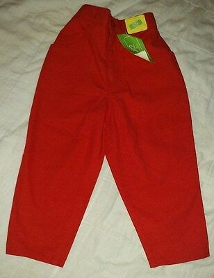 Vintage Girls High Waist Pants Benetton NWT Size 2 or 90 cm or 2 years