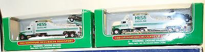 AS IS - Collectible Hess Toys - In Box - Transport & Truck - Lot of 5