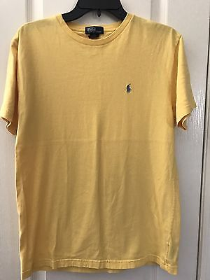Youth Boys POLO RALPH LAUREN S/S Yellow Tee Shirt Sz XL 20