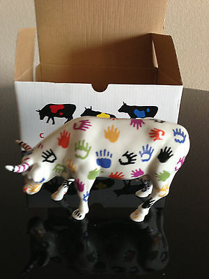 Cow Parade 9153 HANDsome  RARE ORIGINAL CHICAGO RELEASE With Tag And Box