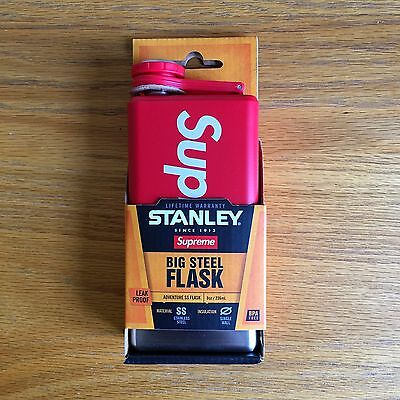 Supreme Stanley Adventure Flask SS17 Box Logo In Hand with Stickers