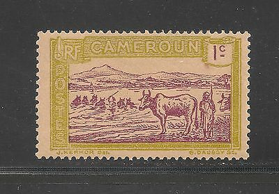 Cameroun #170 VF MINT OG - 1925 1c Herder and Cattle Crossing Sanaga River