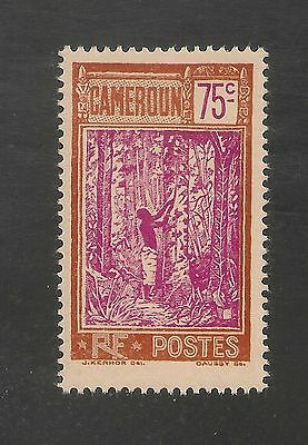 Cameroun #194 VF MINT LH OG - 1927 75c Native Tapping Rubber Tree