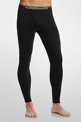 Icebreaker Mens Apex Leggings 260g Merino Wool Bottoms Black, S