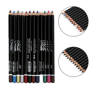 MeNow Makeup Silky Pen Pencil Shimmer 12 Color Black Set Eye Lip Lipliner Shadow