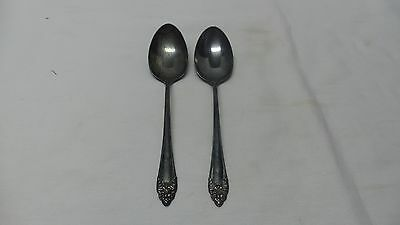 2 Vintage REED & BARTON Sterling Silver Serving Spoons FRAGRANCE 1941