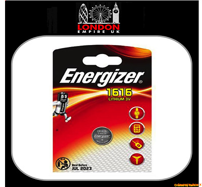 1 x Energizer CR1616 3V Lithium Coin Cell Battery DL1616 KCR1616, BR1616 1616