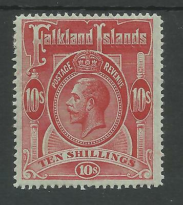 Falkland Is Sg68 The 1914 Gv 10/- Red/green  Fine Mint Cat £190