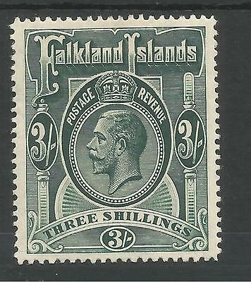 Falkland Is Sg66 The 1912-20 Gv 3/- Green  Fine Mint Cat £95