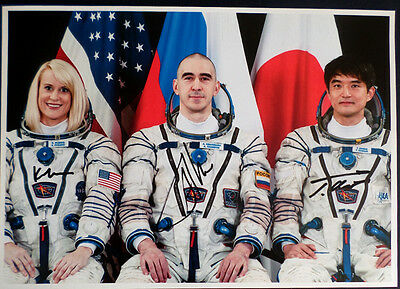 CREW Soyuz MS-01 NASA Astronauts SIGNED Original AUTOGRAPH PHOTO 12x8in COA #2