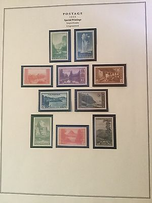 US Stamps Postage NATIONAL PARKS YEAR ISSUE 1934 MINT MNH Set of 10 m17