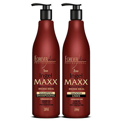 Forever Liss Ingel Maxx Brazilian Keratin Hair Treatment STRAIGHTHENING 2 X 1Lt.