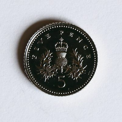 """2003 """"FIVE PENCE"""" coin from Royal Mint set"""