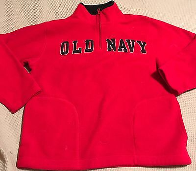 Youth Gap Pull Over Sweater Red Half Zip