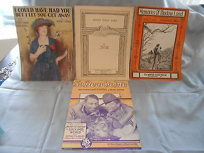 """""""BROADWAY HITS """" Lot of 4 -  Vintage, Antique  Sheet Music  1920's"""