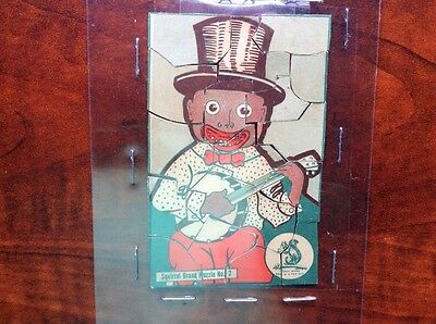Very Rare Squirrel Brand Candy Box Puzzle. Black Americana. 1920's/30's