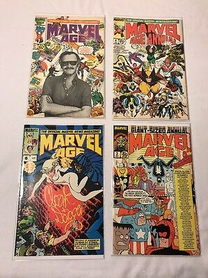 Lot Of Four Marvel Age ,stan Lee ,annual 4 ,age 3,6 .