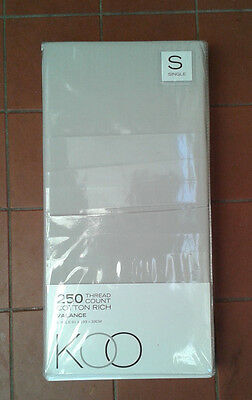 Koo 250 Thread Count Taupe Beige Single Bed Valance New