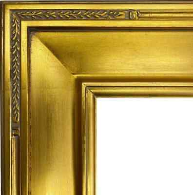 """Craig Frames Contemporary 2.2/"""" Distressed Antique Gold Wood Picture Frame"""