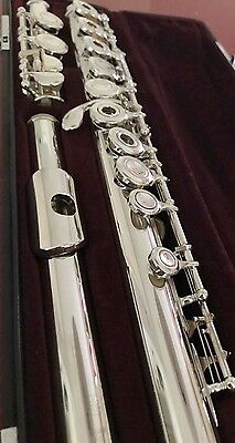 Yamaha 471 Solid Silver Open-Hole flute - offset G, split E & C-Foot