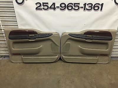1999-2007 Ford F250 F350 Tan King Ranch Front & Rear Door Panels With Switches