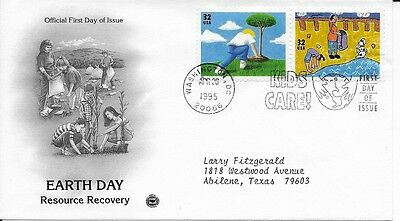 Scott #2951-52 , #2953-54 - pair of Earth Day FDC's
