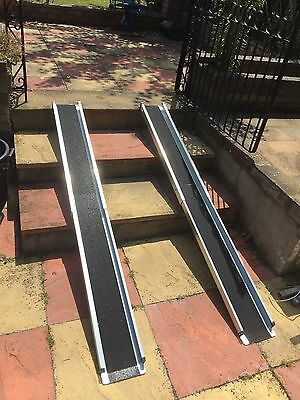 6ft Telescopic Wheelchair Channel Ramps, Lightweight robust construction