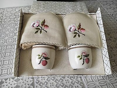 Irish Linen Egg Cosy And Cups