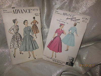 2 Advance Vintage Sewing Patterns from 1950's - American Designer Pattern