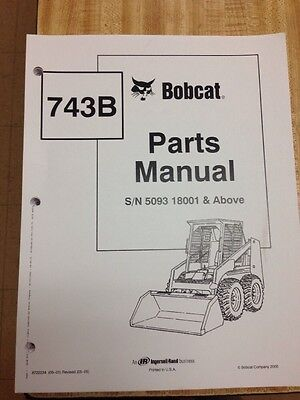 bobcat 743 early parts manual book skid steer loader 6566179 rh picclick com bobcat 743 parts manual pdf bobcat 743 parts manual pdf