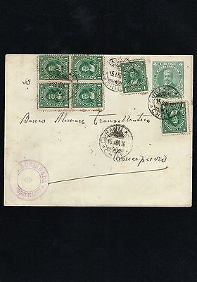 R) 1916 Chile, Curanilahue Conception Directed Transatlantic German Boat, With R