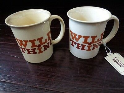 Pair Of New With Tags Wild Thing Chip Taylor Troggs Mugs Hallmark