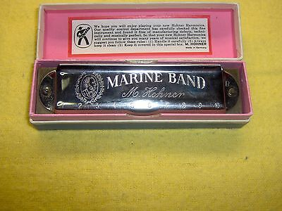 Vintage Hohner Marine Band Full Concert Harmonica Made in Germany